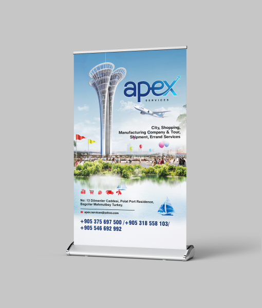 Big Roll-Up Banners and Stand