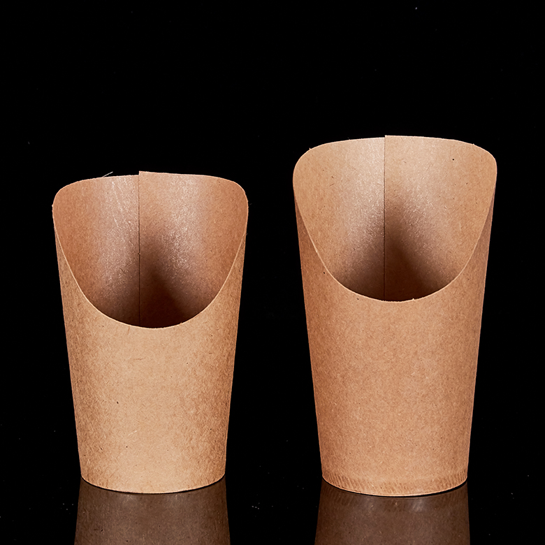 High quality disposable kraft paper cup French fries, oil proof and water proof