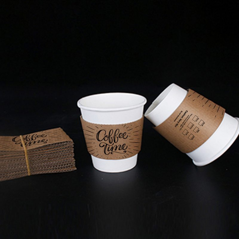 Hot Selling craft paper cup holder custom coffee cup sleeves