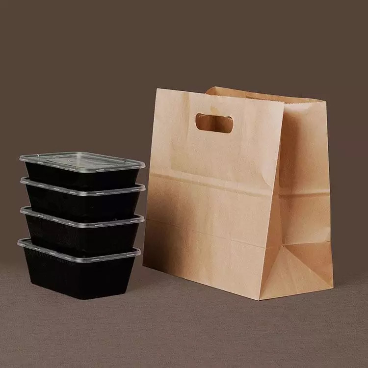 Kraft Paper Bag With Die-Cut Handle
